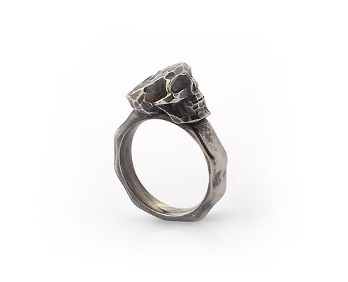 Faceted Skull Ring