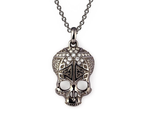 Ornamental Skull Necklace