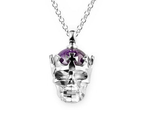 Faceted Skull Necklace