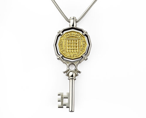 Three Pence Coin Necklace