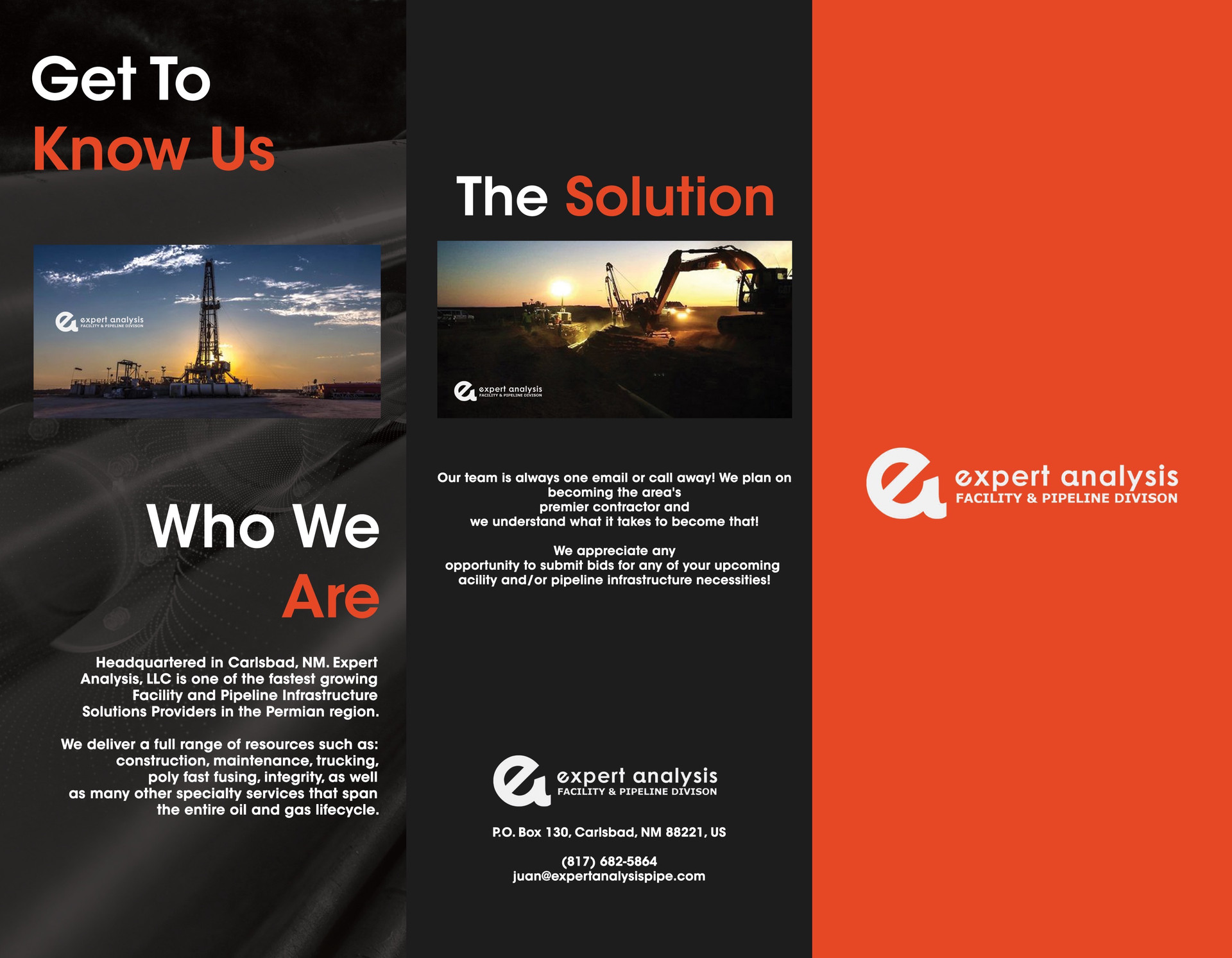 Expert Analysis Brochure Design