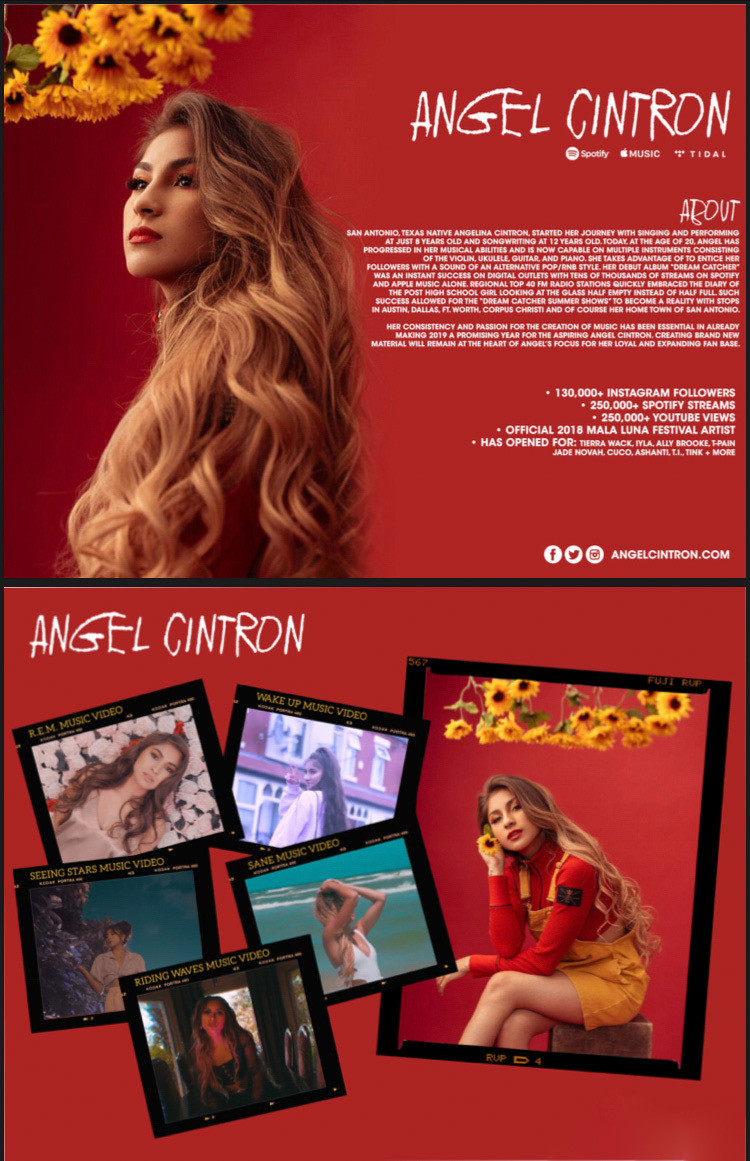 Angel Cintron EPK/One Sheet Design