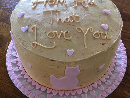 Organic Gluten Free Triple Layer Vanilla Birthday Cake