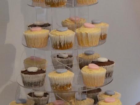 My Daughter's 1st Birthday & Christening Cupcake Tower