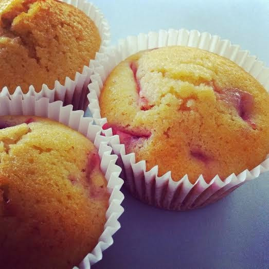 Gluten Free Strawberry & Polenta Mini Cakes