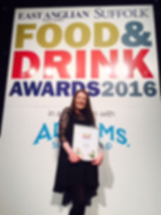 Suffolk Food and Drink Best Newcomer 2016