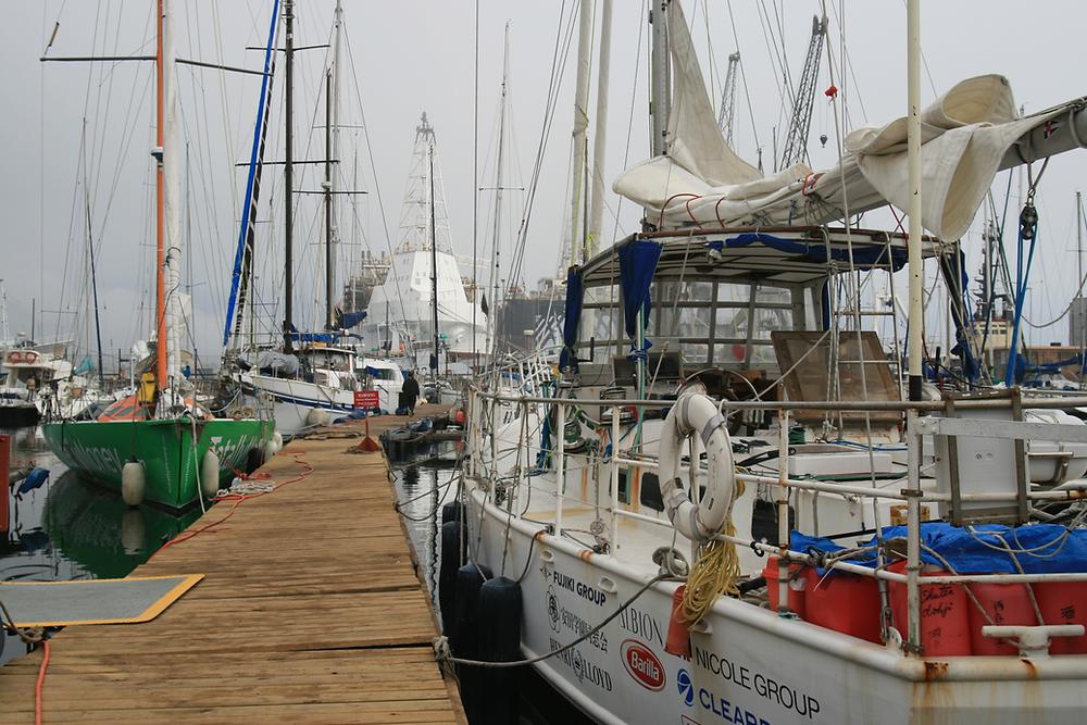 Minuro Saito's boat on the right.