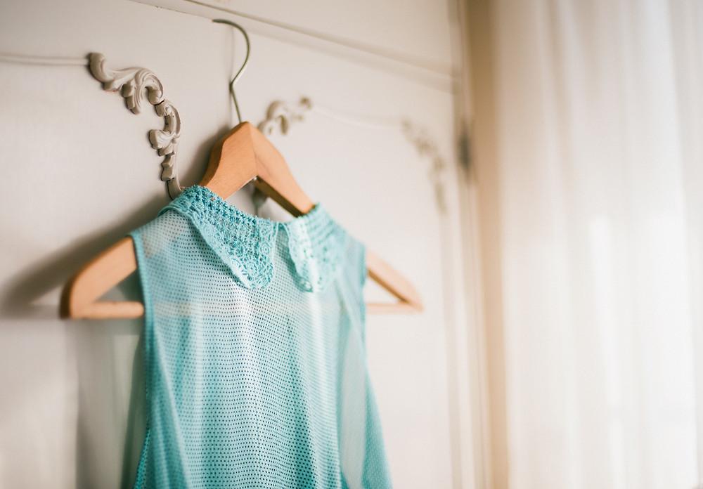 Mint Green Blouse on Hanger