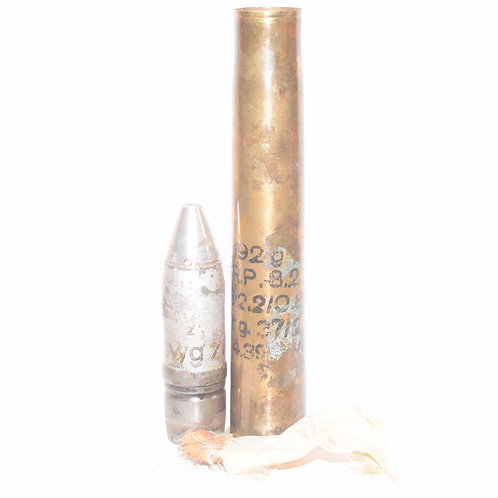 OUTSTANDING German WW2 3.7cm SprGr FES Round for PZ3 Tank