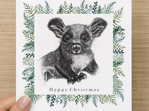 Square Glider christmas card