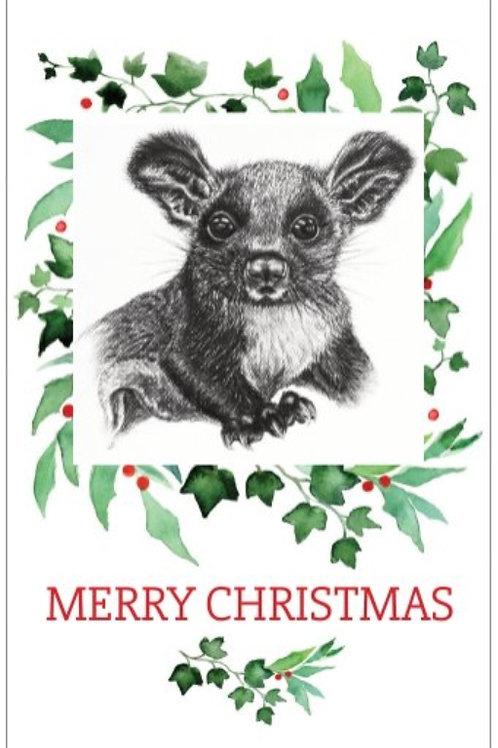 Glider christmas card