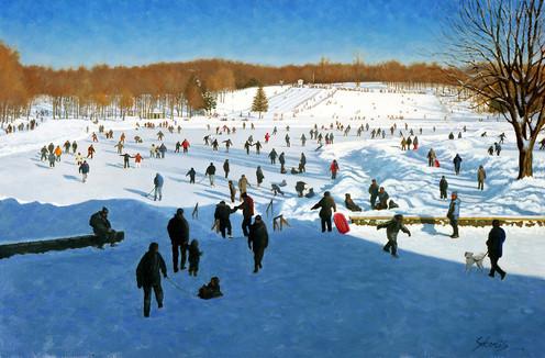 Winter Joy, Montreal (SOLD)