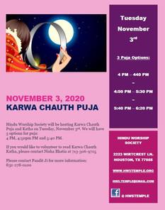 Karwa Chaut Puja Update