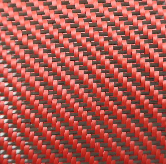 Carbon/Kevlar - RED - 2x2 Twill - (3k) - 6.6oz