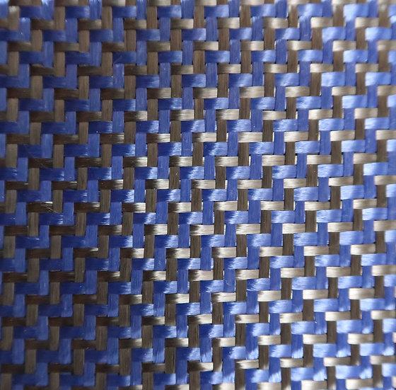 Carbon/Kevlar - BLUE - 2x2 Dual twill - (3k) - 6.5oz