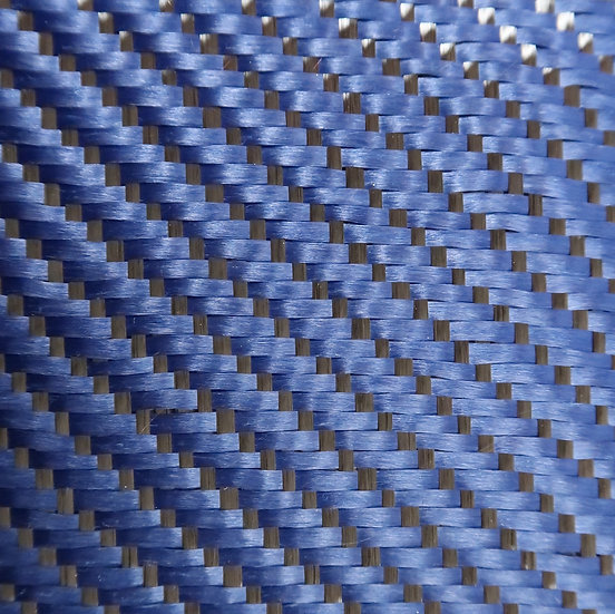 Carbon/Kevlar - BLUE - 3x1 Twill/Reversible/Front - (3k) - 5.5oz