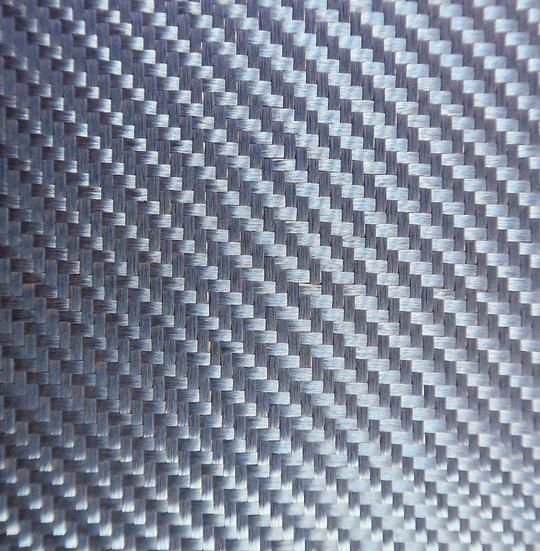 Aluminized Fiberglass - BLUE (Front) - 2x2 Twill - (3k) - 9.14oz