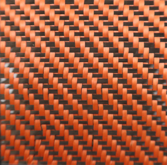 Carbon/Kevlar - ORANGE - 2x2 Twill - (3k) - 5.5oz