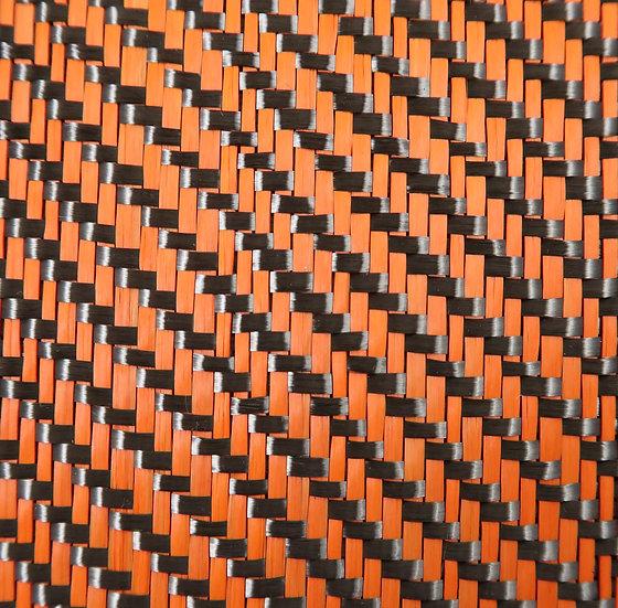 Carbon Fiber/Fiberglass - ORANGE - 2x2 Twill - (3k) - 12.53oz