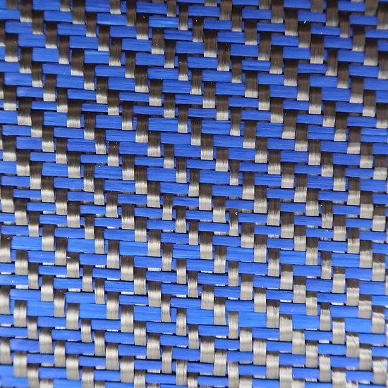 Carbon Fiber/Fiberglass - BLUE - 2x2 Twill - (3k) - 12.53oz