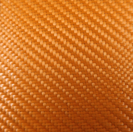 Aluminized Fiberglass - ORANGE (Back) - 2x2 Twill - (3k) - 9.14oz