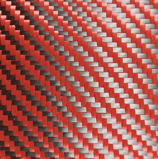 Carbon/Kevlar - RED - 2x2 Twill - (3k) - 5.5oz