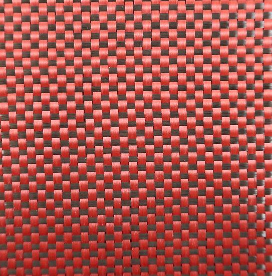 Carbon/Kevlar - RED - Plain Weave - (3k) - 5.5oz
