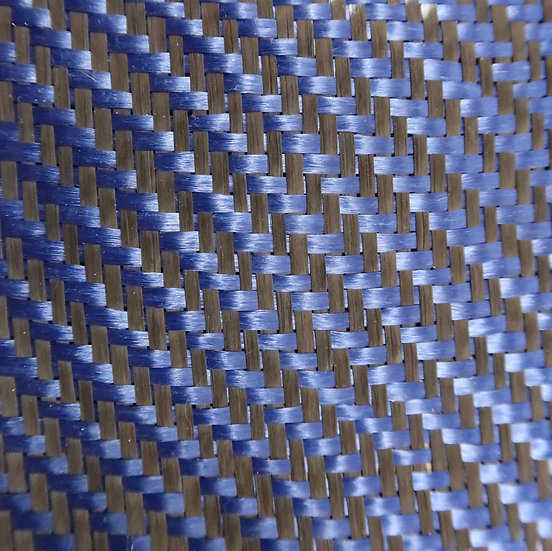 Carbon/Kevlar - BLUE - 2x2 Twill - (3k) - 5.5oz.