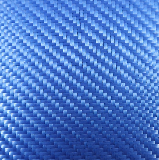 Aluminized Fiberglass - BLUE (Back) - 2x2 Twill - (3k) - 9.14oz