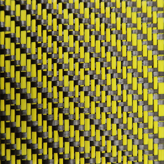 Carbon Fiber/Fiberglass - YELLOW - 2x2 Twill - (3k) - 12.53oz