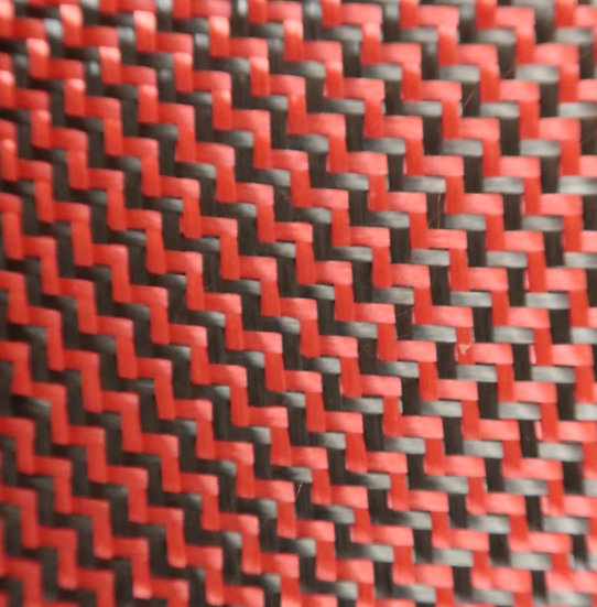 Carbon/Kevlar - RED - Dual 2x2 Twill - (3k) - 6.5oz