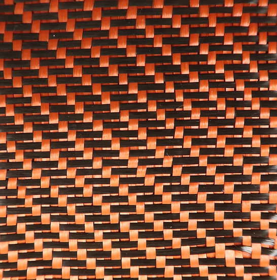 Carbon/Kevlar - ORANGE - 3x1 Twill/Reversible/Back - (3k) - 5.5oz