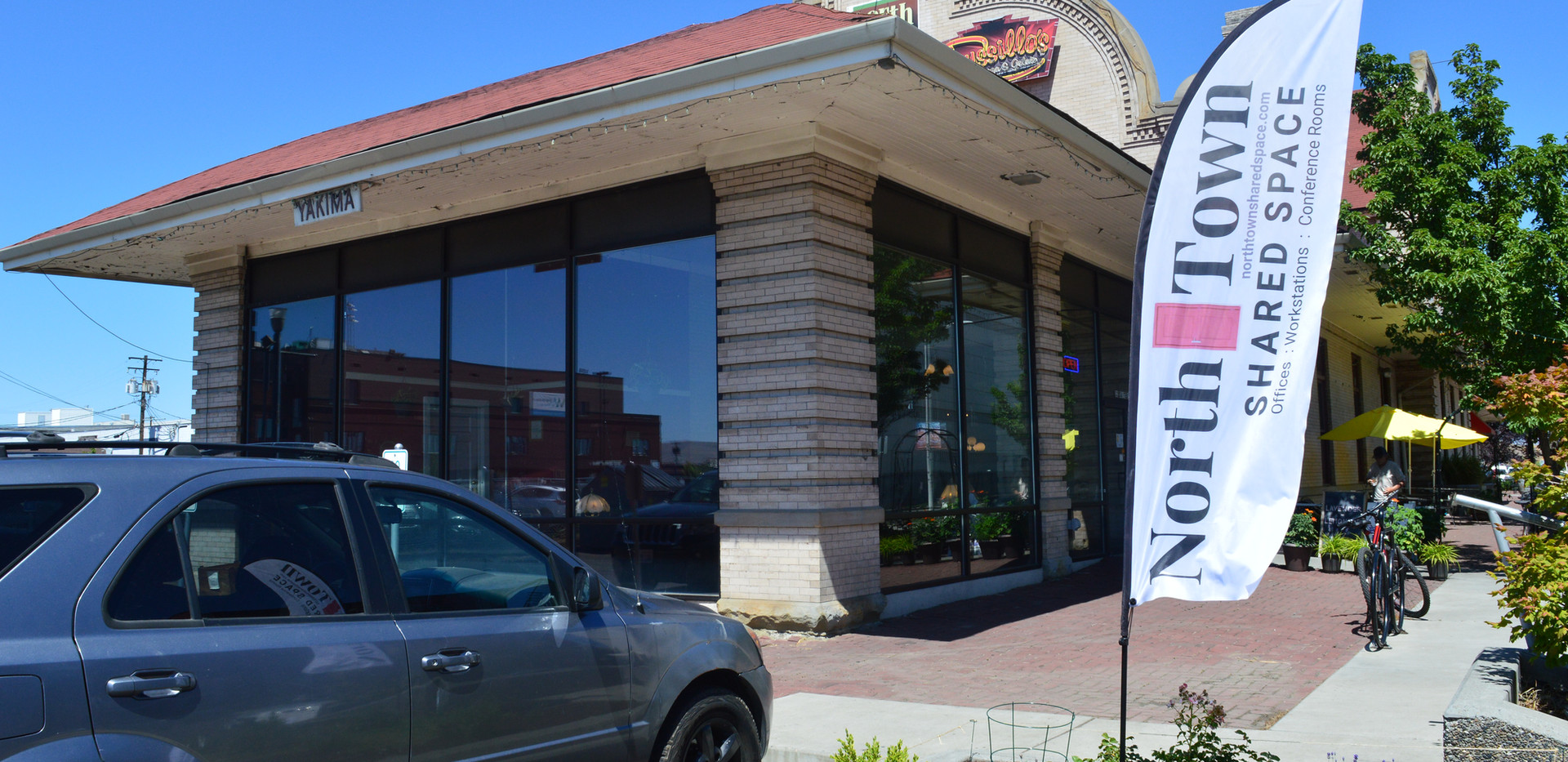 North Town Coffeehouse and Shared Space exterior entrance.