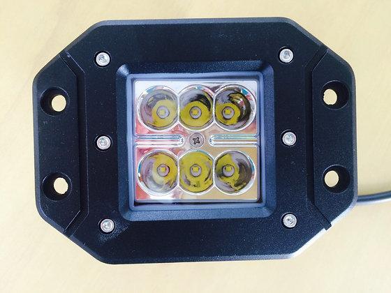 Farol Auxiliar p/ embutir - 6 LEDs L. Dist. (par)