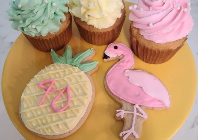GF Cupcakes & Decorative Sugar Cookies