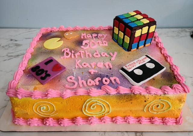 80's Themed Sheet Cake