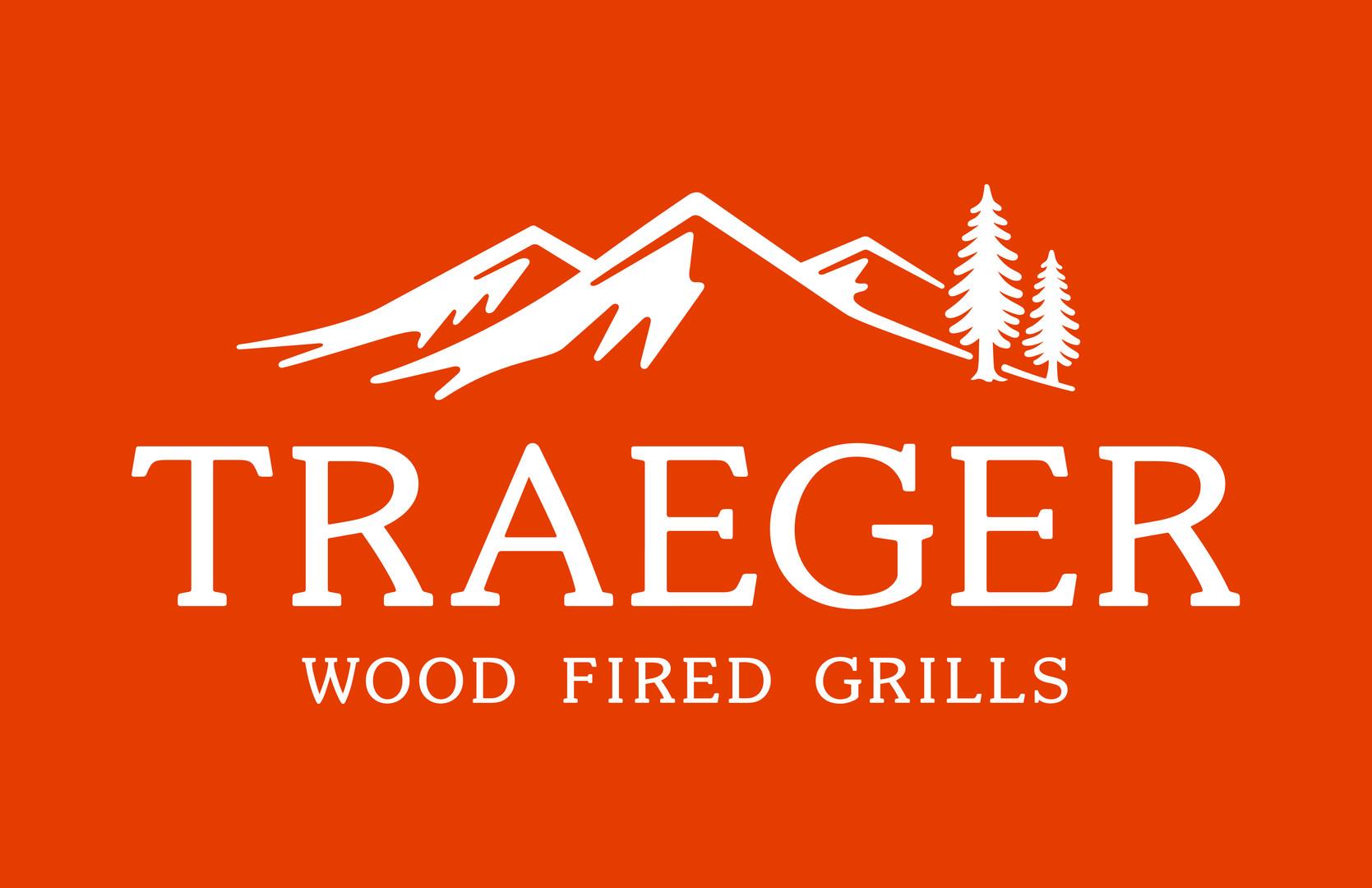 BF-Logos_Traeger Logo White on Orange_Tr
