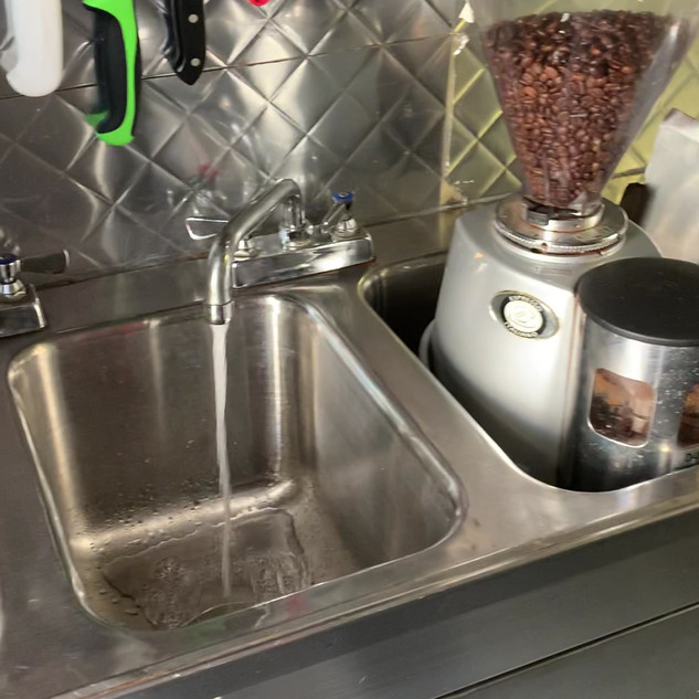 3 compartment sink, hand sink, hot water tank.mov