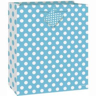 Bag Gift Large Light Blue Dots