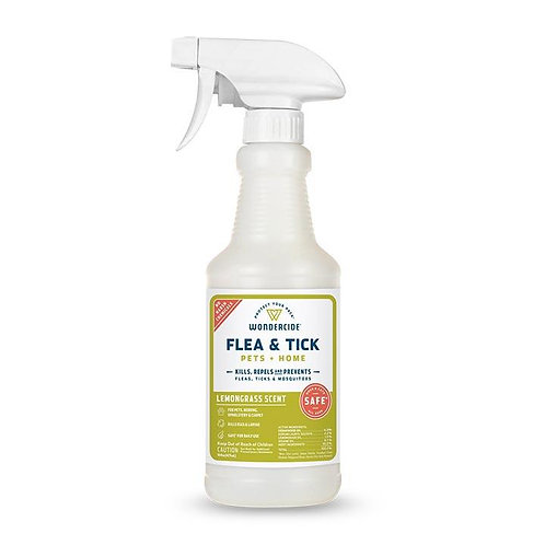 Flea & Tick Spray for Pets + Home -Lemongrass (16oz)