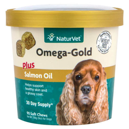 NaturVet Omega-Gold Salmon Oil Dog Chews (90ct)