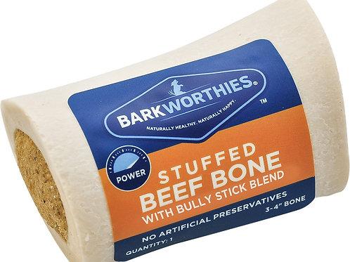 Barkworthies Bully Stick Blend Stuffed Bone for Dogs