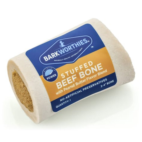 Barkworthies Peanut Butter Stuffed Bone for Dogs