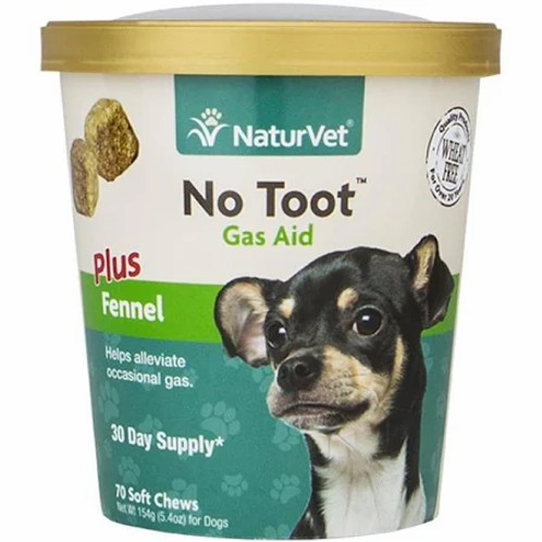 NaturVet No Toot Gas Aid Soft Chew Plus Fennel (70ct)