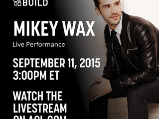 Mikey Wax Performs Live On AOL BUILD SERIES