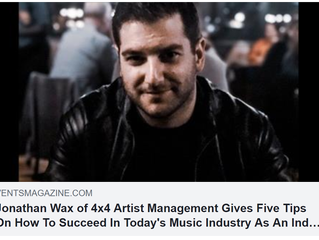 Vents Magazine Feature: 5 Tips On How To Succeed As An Indie Artist