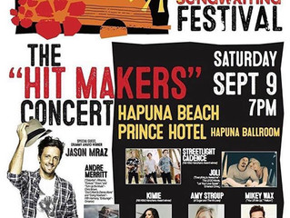 Mikey Wax to Perform At Hawaii Songwriting Festival With Jason Mraz, JoLi, Amy Stroup, Streetlight C