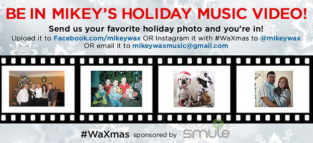 Be In Mikey's Holiday Music Video + Free Online Show