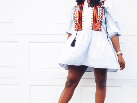 Tribal Dress + Faux Locs