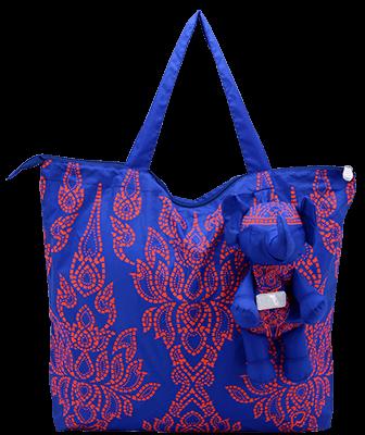 Eleph Foldable Bag Chalu Blue/Orange